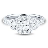 2 ct. tw. Diamond Three-Stone Engagement Ring in 14K White Gold