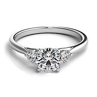 Helzberg Diamond Masterpiece® 1 ct. tw. Diamond Three-Stone Engagement Ring in 18K White Gold