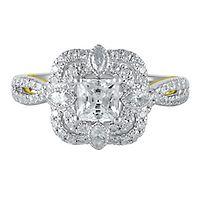 TRULY™ Zac Posen 1 3/8 ct. tw. Diamond Engagement Ring in 14K White Gold