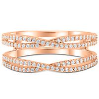 3/8 ct. tw. Diamond Ring Enhancer in 10K Rose Gold