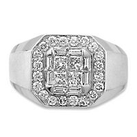 Men's 1 1/2 ct. tw. Diamond Ring in 14K White Gold