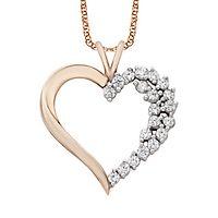 1/4 ct. tw. Diamond Heart Pendant in 10K Rose Gold