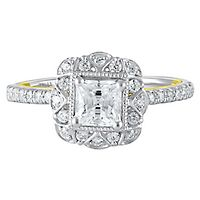 TRULY™ Zac Posen 1 3/8 ct. tw. Diamond Engagement Ring in 14K White & Yellow Gold