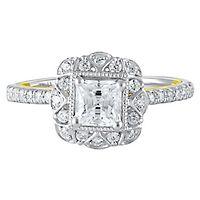 TRULY™ Zac Posen 1 3/8 ct. tw. Diamond Engagement Ring in 14K White & Yellow Gold