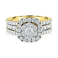 2 ct. tw. Multi-Diamond Engagement Ring in 14K Yellow Gold