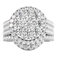 2 1/2 ct. tw. Multi-Diamond Engagement Ring Set in 14K White Gold