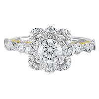 TRULY™ Zac Posen 1 1/4 ct. tw. Diamond Engagement Ring in 14K White Gold
