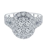 2 ct. tw. ALTR™ Created Diamond Oval Shaped Engagement Ring in 14K White Gold