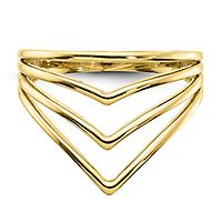Multi-Row Chevron Band in 14K Yellow Gold