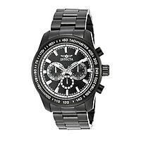 Invicta Speedway Black Chronograph Men's Watch