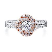 1 ct. tw. Diamond Engagement Ring in 14K White & Rose Gold