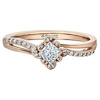 Maple Leaf Diamonds™ 3/8 ct. tw. Diamond Engagement Ring in 18K Rose Gold