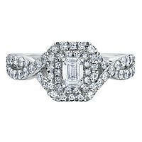 Maple Leaf Diamonds™ 1 ct. tw. Diamond Engagement Ring in 18K White Gold