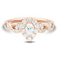 1 ct. tw. Diamond Engagement Ring in 14K Rose Gold