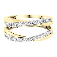 3/8 ct. tw. Diamond Ring Enhancer in 14K Yellow & White Gold