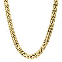 Men's Cuban Link Chain in 14K Yellow Gold, 24