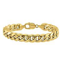 Men's Cuban Link Bracelet in 14K Yellow Gold