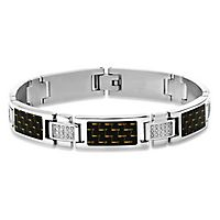Men's 3/8 ct. tw. Diamond Bracelet in Stainless Steel