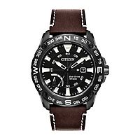 Citizen® Eco-Drive™ PRT Men's Leather Watch