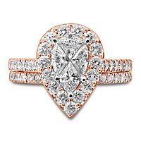 2 ct. tw. Diamond Engagement Ring Set in 14K Rose Gold