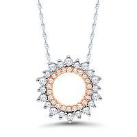 1/4 ct. tw. Diamond Circle Pendant in 10K White & Rose Gold