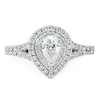 1 ct. tw. Diamond Pear Engagement Ring in 14K White Gold
