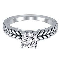 Solitaire Semi-Mount Engagement Ring in 14K White Gold