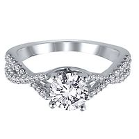 1/3 ct. tw. Diamond Semi-Mount Engagement Ring in 14K White Gold