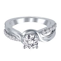 1/4 ct. tw. Diamond Semi-Mount Engagement Ring in 14K White Gold