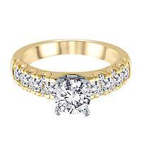 5/8 ct. tw. Diamond Semi-Mount Engagement Ring in 14K Yellow Gold