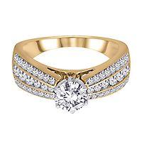 3/4 ct. tw. Diamond Semi-Mount Engagement Ring in 14K Yellow Gold