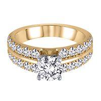1 ct. tw. Diamond Semi-Mount Engagement Ring in 14K Yellow Gold