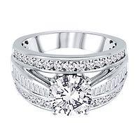 1 1/4 ct. tw. Diamond Semi-Mount Engagement Ring in 14K White Gold
