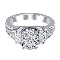 1 ct. tw. Diamond Semi-Mount Engagement Ring in 14K White Gold