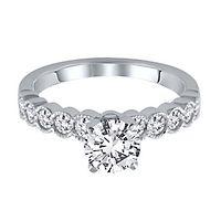 1/2 ct. tw. Diamond Semi-Mount Engagement Ring in 14K White Gold
