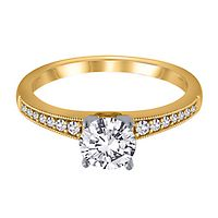 1/8 ct. tw. Diamond Semi-Mount Engagement Ring in 14K Yellow Gold