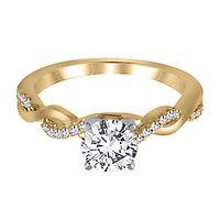 1/10 ct. tw. Diamond Semi-Mount Engagement Ring in 14K Yellow Gold