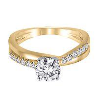 1/4 ct. tw. Diamond Semi-Mount Engagement Ring in 14K Yellow Gold