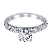 1/4 ct. tw. Diamond Semi-Mount Engagement Ring in 14K White Gold