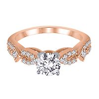 1/4 ct. tw. Diamond Semi-Mount Engagement Ring in 14K Rose Gold