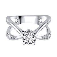 1/7 ct. tw. Diamond Semi-Mount Engagement Ring in 14K White Gold