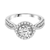 1/2 ct. tw. Diamond Semi-Mount Engagement Ring in 14K White Gold