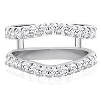 7/8 ct. tw. Diamond Ring Enhancer in 14K White Gold