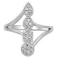 1/4 ct. tw. Diamond Shape Ring in 10K White Gold