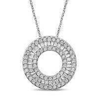1/3 ct. tw. Diamond Circle Pendant in 10K White Gold