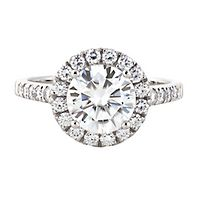 Forever One® 2 3/4 ct. tw. Moissanite Halo Ring in 14K White Gold
