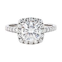 Forever One® 2 7/8 ct. tw. Moissanite Halo Ring in 14K White Gold