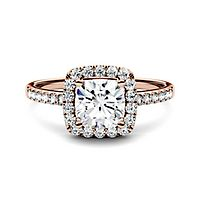 Forever One® 1 3/8 ct. tw. Moissanite Ring in 14K Rose Gold