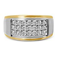 Men's 1 ct. tw. Diamond Ring in 10K Yellow & White Gold