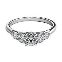 Helzberg Diamond Masterpiece® 3/4 ct. tw. Diamond Engagement Ring in 18K White Gold